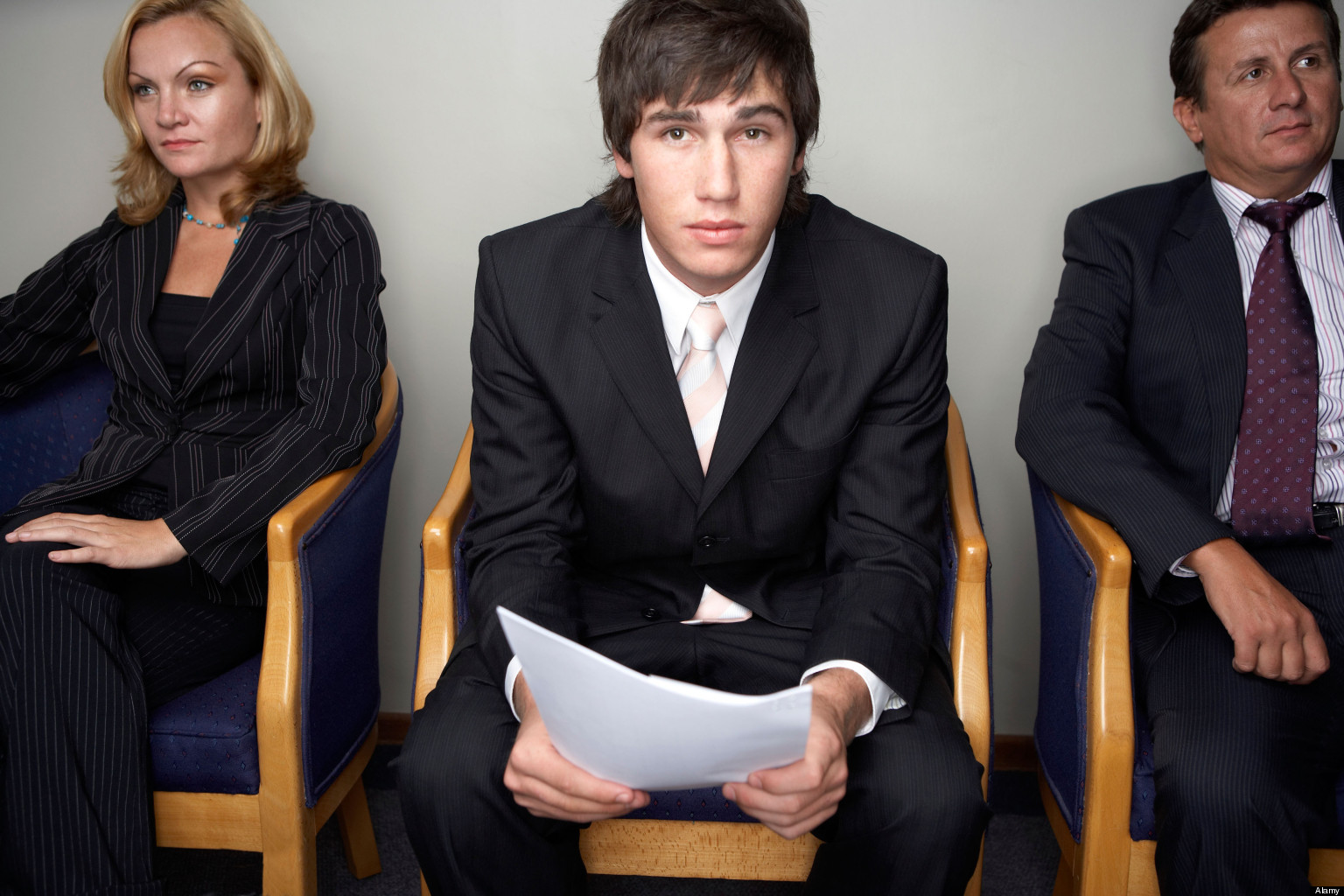 Young Man Nervous about Job Interview